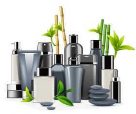Male Cosmetics design vectors material