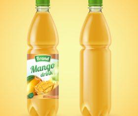 Mango drink bottle backage vector
