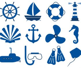 Maritim icons set 01