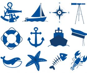 Maritim icons set 03