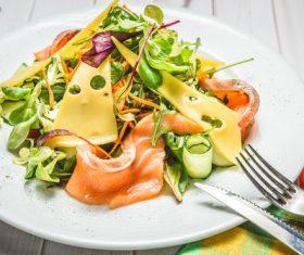 Mix fresh vegetable salad Stock Photo