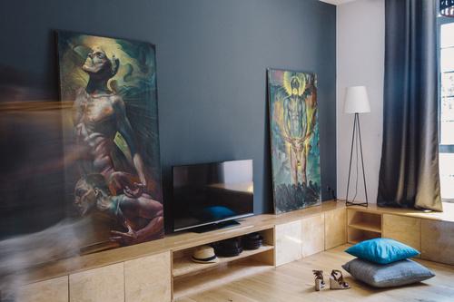 Modern design loft apartment Stock Photo