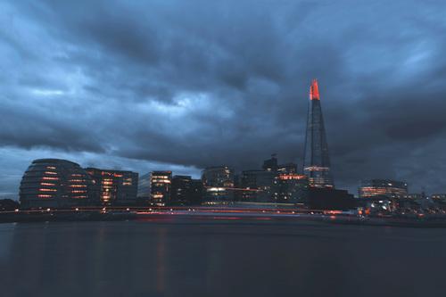 Moody london Stock Photo
