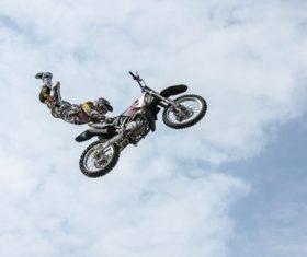 Motorcycle stunt show Stock Photo