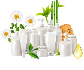 Natural Cosmetics Concept vectors material