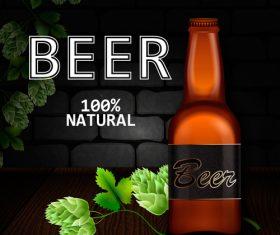 Natural beer background vectors