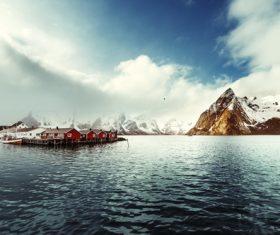 Norwegian Bay Chalet Stock Photo 01