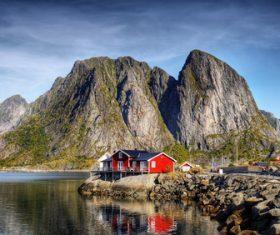 Norwegian Bay Chalet Stock Photo 02
