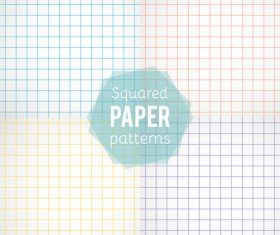 Notepad paper pattern design vector 01