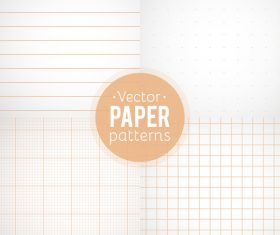 Notepad paper pattern design vector 03