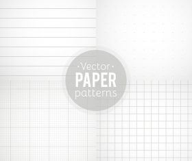 Notepad paper pattern design vector 04