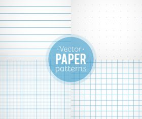 Notepad paper pattern design vector 05