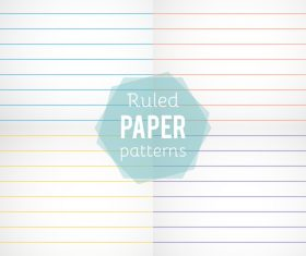 Notepad paper pattern design vector 06