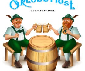 Oktoberfest beer fastival background vectors
