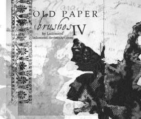Old Paper Photoshop brushes