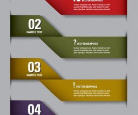 Origami infographic picture vector