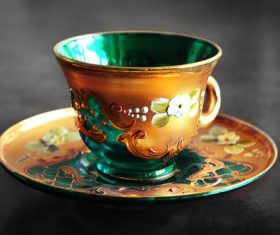 Ornamental tea cup Stock Photo
