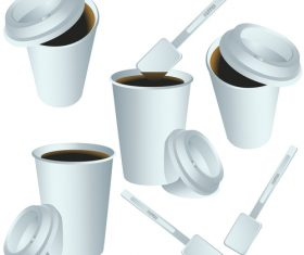 Paper coffee cup illustration vector
