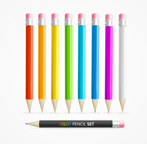 Pencil illustration vector design