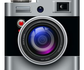 Photo camera icons material 01