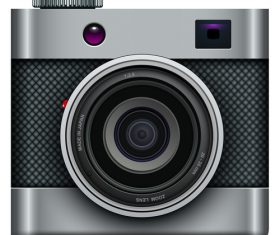 Photo camera icons material 02