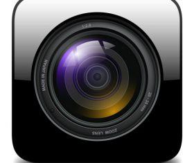 Photo camera icons material 03