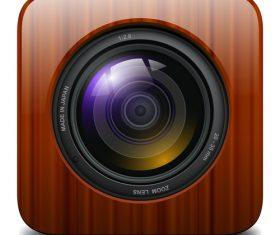 Photo camera icons material 04