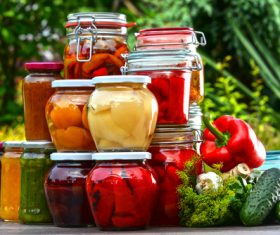 Pickled Canned vegetables Stock Photo 06