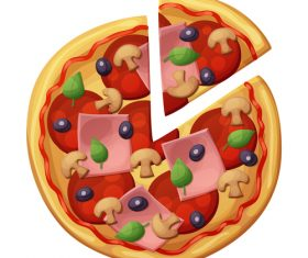 Pizza design illustration vectors 01