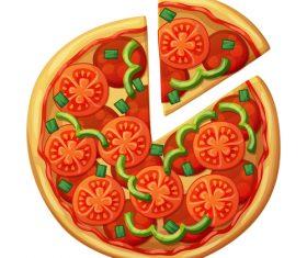 Pizza design illustration vectors 03