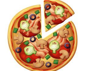 Pizza design illustration vectors 05