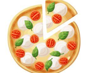Pizza design illustration vectors 06