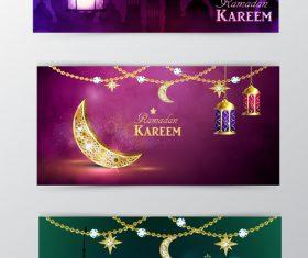 Ramadan kareem greenting cards desgin vector 01