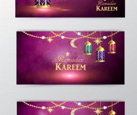 Ramadan kareem greenting cards desgin vector 02