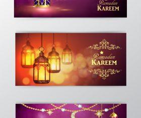 Ramadan kareem greenting cards desgin vector 03