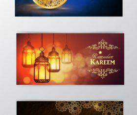 Ramadan kareem greenting cards desgin vector 04