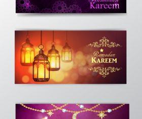 Ramadan kareem greenting cards desgin vector 05