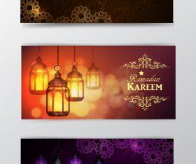 Ramadan kareem greenting cards desgin vector 06