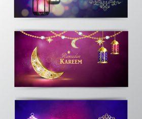 Ramadan kareem greenting cards desgin vector 07