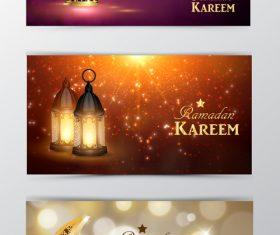Ramadan kareem greenting cards desgin vector 09