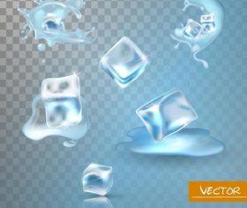 Realistic ice cube design vector illustration 01