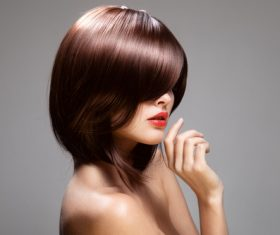 Red hair model with perfect glossy hair Stock Photo 09