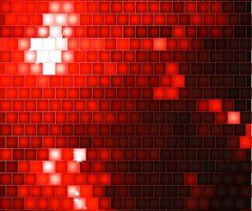 Red neon background design vector