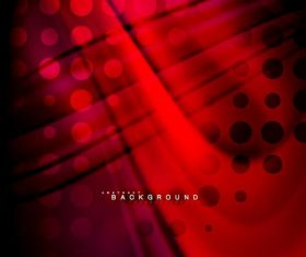 Red vector abstract wave background 02