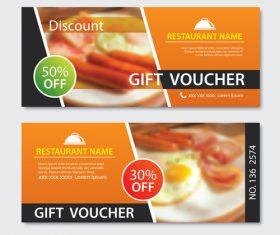 Restaurant gift voucher templae vector 03