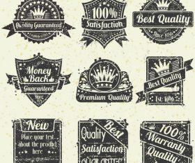 Retro badge with labels design vectors set 04