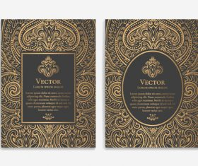 Retro luxury decor cover template vector 01