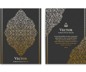 Retro luxury decor cover template vector 04