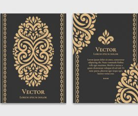 Retro luxury decor cover template vector 05