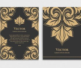 Retro luxury decor cover template vector 09